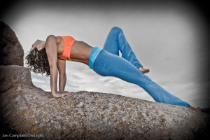 yoga photography outside reverse plank