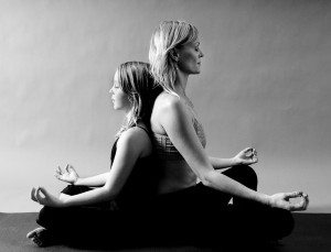 yoga photography seated pose partner