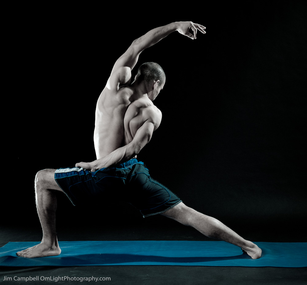 yoga art muscles reverse warrior